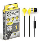 NEW Wicked Audio WI-2154 Headphones In-Ear JAW BREAKER EARbuds Yellow/GENUINE