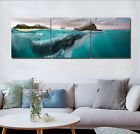 Underwater Whale Abstract Canvas Print Art Painting Home Wall Decor Set Frame