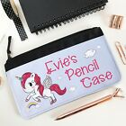 Personalised Pink Pencil Case with Baby Unicorn, Back to School, Stationery