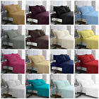 Bedsheet Fitted Percale Non Iron Extra Deep Bed Sheet Poly-Cotton 21 Colours