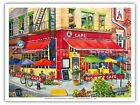 Bus Stop Cafe New York City - Robin Wethe Altman Watercolor Painting Print
