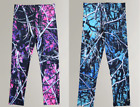 Muddy Girl Camo Youth Pants | Girls Black Camouflage Leggings | Pink or Blue