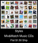 Styles(40) - Mix&Match Music CDs U Pick *NO CASE DISC ONLY*