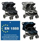 Baby Tandem Double Stroller Twin Pushchair Pram Buggy Travel Different Designs