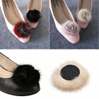 Внешний вид - 1pc Mink Fur Rose Flower Fluffy DIY Women Shoe Hat Decor Bridal Accessories 6CM