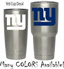 New York Giants Football Decal for NFL YETI Tumbler 20 30 Ozark RTIC Sticker $3.74 USD on eBay