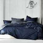 NEW Indigo Denim Cotton Quilt Cover Set Aura By Tracie Ellis Quilt Covers