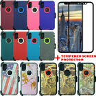 For iPhone X/10 Defender Case w/Tempered Glass Screen(Belt Clip fits Otterbox)