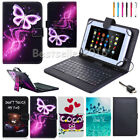 "Micro USB Keyboard Cover with Leather Case For RCA Voyager 7"" 8"" 10.1"" Tablet"