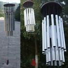Outdoor Tube Church Silver Hanging Living Wind Chimes Garden Yard Decor Bells