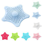 Star PVC Bath Kitchen Waste Sink Strainer Hair Filter Drain Catcher Cover 7Color