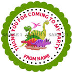 Personalised Dinosaur Stickers for Party Bags/Sweet Cones etc Ref 01-01
