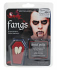 Vampire Teeth Scary Fangs Fancy Dress Party Costume With Dental Putty hallowen