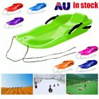 Skiing Board Sled Luge Snow Grass Sand Board Pad With Rope For Double People C3 $32.21 AUD