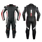 Leather Suit CE Armored Cowhide Mororcycle Motorbike Quality All Sizes Red