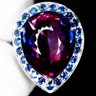 DISTINGUISHED 17.80 CT. PURPLE BLUE AMETRINE REAL 925 SILVER RING SZ 5.75 US