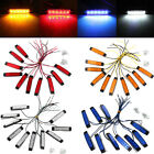 10pcs 6 Led Side Marker Indicators Light Trailer Truck Lorry Lamp Waterproof 12v