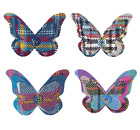 Ness Butterfly Tweed Pin Brooch/Corsage (Bright/Shandwick/New Haven Check)