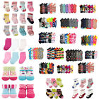Lot of 12 pair Kid Crew Ankle Socks Toddler Boy Girl Casual Multi Color Size 0-8