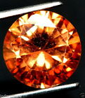 CERTIFIED -11.05 CT.- NATURAL- SOUTH AFICA -.UNTREATED - ORANGE/BROWN - ZIRCON