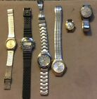 Lot of 6 Men & Women Watches parts or repair Untested