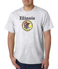 USA Made Bayside T-shirt City State Country Illinois State Seal 2018