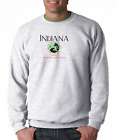 Gildan Crewneck Sweatshirt City State Country Indiana Seal Home Sweet Home