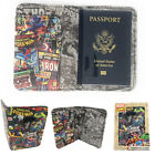 Внешний вид - MARVEL Characters Retro Travel Wallet Passport Boarding Pass ID Holder Gift Box