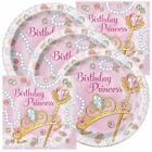 Princess Themed Birthday Party Plates and Napkins Serves 16