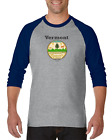 Gildan Raglan T-shirt 3/4 Sleeve USA State Seal Vermont Big