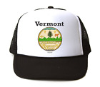 Trucker Hat Cap Foam Mesh USA State Seal Vermont Big