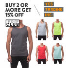 PROCLUB PRO CLUB MENS CASUAL TANK TOP MUSCLE T SHIRT PLAIN SLEEVELESS SHIRTS TEE image