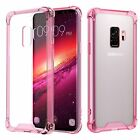 Samsung Galaxy S9 Case Crystal Clear Reinforced Corners TPU Clear Pink