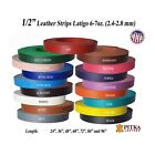 Latigo Leather Strips 1/2 inches, 6 -7 oz - up to 96 inches long - Craft - USA