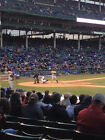 CHICAGO CUBS V BRAVES 4/15 2 TICKETS ROW 1 SEC 129 WRIGLEY FIELD MUST SEE SEATS
