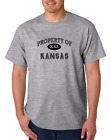 USA Made Bayside T-shirt USA State Property Of Kansas