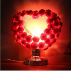 Heart Shape Rose Electric Oil Burner Touch Fragrance Lamp Home Decor