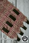 Horse Polo Leg Wraps Stable Wraps Set of 4 Leopard Ombre Pink Brown
