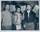 1953 Photo Korean Veterans MA John Malone Peter Medico Ralph Chick Military 7x9