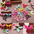 10/20X Kid Girls Hair Rabbit Ears Bow Ponytails Band Bobbles Tie Rope Hair Band