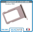 Tiroir porte carte sim tray Or Rose pour iPhone 7