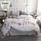 FenDie Pine Tree Printed Bedding Collections Queen Gray, Christmas Forest Duvet