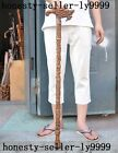 Old China Boxwood wood carving Dragon beast coin crutch Cane Wand Walking stick