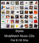 Styles(36) - Mix&Match Music CDs U Pick *NO CASE DISC ONLY*