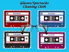 PERSONALISED RETRO AUDIO CASSETTE GLASSES/SPECTACLES CLEANING CLOTH GIFT IDEA