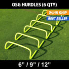 OSG Speed / Agility Training Hurdles [6 Pack] Choose Your Size! With Carry Bag