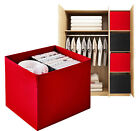 FOLDABLE STORAGE COLLPSIBLE DRONA INSPIRED BOX ORGANIZER CANVAS FABRIC CUBE ROOM