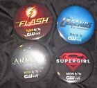 Lot of 4 Comic Book Buttons From CW Shows
