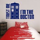 Dr Who Tardis Wall Decal Trust Me I'm The Doctor Vinyl Wall Sticker Home Decor