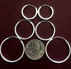 Sterling Silver .925 ENDLESS Hoops~ 2mm x 10mm up to 55mm $3.89 to $15.49       image